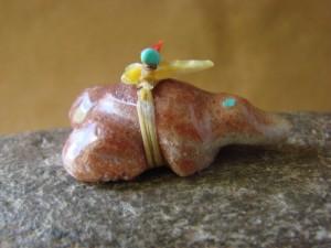 Zuni Indian Hand Carved Frog Fetish by Peter Gasper