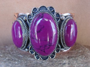 Native American Jewelry Copper Purple Howlite Bracelet by Jackie Cleveland!