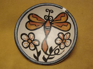 Santo Domingo Kewa Handmade & Painted Dragonfly Bowl By Rose Pacheco!