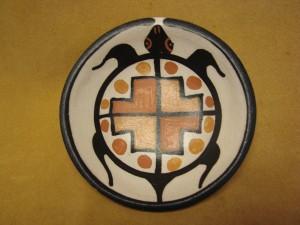 Santo Domingo Kewa Handmade & Painted Turtle Bowl By Billy Veale!