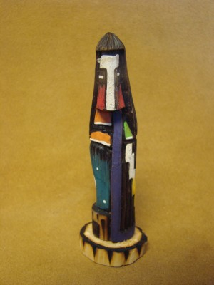 Navajo Indian Handmade & Painted Longhair Shalako Kachina! Signed!
