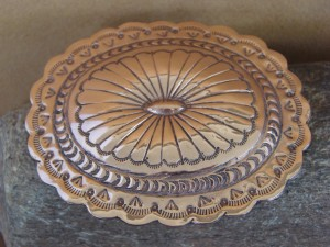 Native American Jewelry Hand Stamped Copper Belt Buckle by Marcella James!