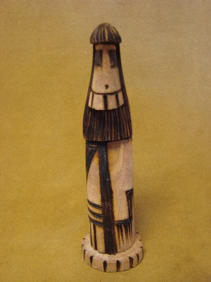 Navajo Indian Handmade Longhair Shalako Kachina! Signed!