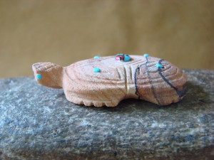Zuni Indian Hand Carved Sandstone Turtle by Danette Laate!