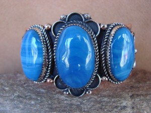 Native American Jewelry Copper Blue Howlite Bracelet by Jackie Cleveland!