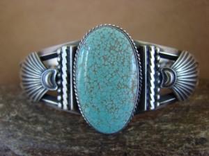 Navajo Indian Sterling Silver  Turquoise Bracelet - Derrick Gordon!