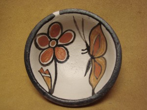 Small Santo Domingo Kewa Handmade & Painted Butterfly Bowl By Rose Pacheco!