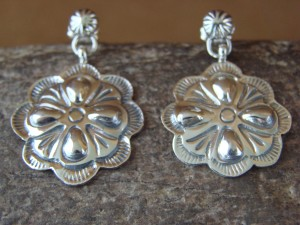 Native American Sterling Silver Hand Stamped Earrings by Allen Lee!