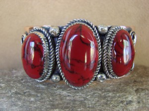 Native American Jewelry Copper Red Howlite Bracelet by Jackie Cleveland!