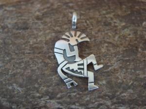 Navajo Indian Sterling Silver Kokopelli Pendant by Robert Gene