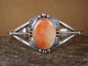 Native American Jewelry Sterling Silver Handmade Spiny Oyster Bracelet