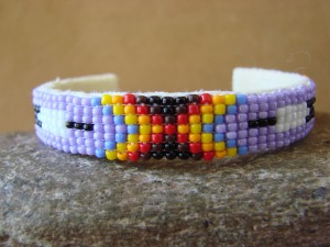 Navajo Indian Jewelry Hand Beaded Bracelet by Lucille Ramone