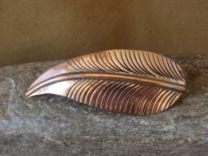 Navajo Indian Jewelry Copper Leaf Hair Barrette by Douglas Etsitty!