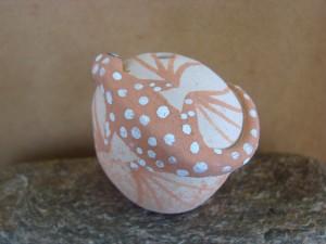 Native American Handmade Clay Mini Lizard Seed Pot by Tony Lorenzo! Zuni Pueblo