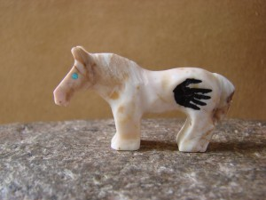 Zuni Indian Hand Carved Horse Fetish by Carol Martinez