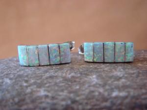Zuni Indian Jewelry Sterling Silver Opal Inlay Post Earrings!