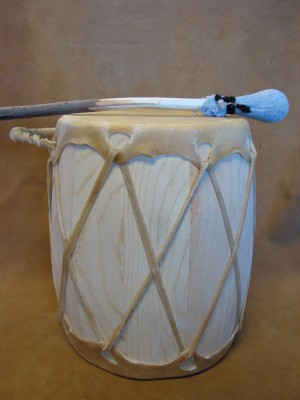 Handmade Native American Drum - Rawhide Skinned - DRM046