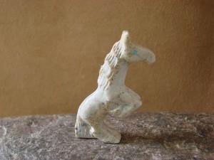 Zuni Indian Hand Carved Stallion Horse Fetish by Carol Martinez