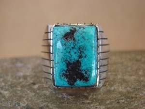 Native American Jewelry Sterling Silver Turquoise Men's  Ring!  Size 13