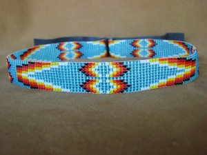Navajo Indian Jewelry Hand Beaded Hat Band by Jacklene Cleveland