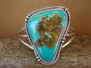 Native American Sterling Silver Turquoise Bracelet by Daniel Benally
