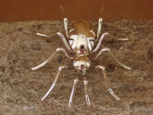 Large Navajo Indian Sterling Silver Spider Pin by Effie Spencer! Jewelry