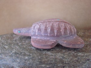 Zuni Indian Hand Carved Pipestone Sea Turtle Fetish by Brandon Phillips!