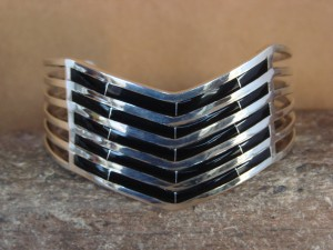 Native American Jewelry Hand Stamped Sterling Silver Bracelet by Enrieo