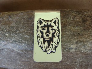 """Navajo Indian Jewelry Wolf Money Clip! Sterling Silver Men""""s"""