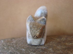 Zuni Indian Hand Carved Antler Squirrel Fetish by Brandon Phillips!