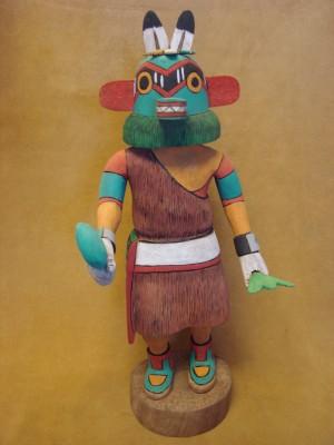 "Hopi Indian Hand Carved ""Ho-Chan"" Kachina by Elmer Adams! Native American"
