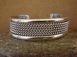 Native American Jewelry Sterling Silver Bracelet Tahe