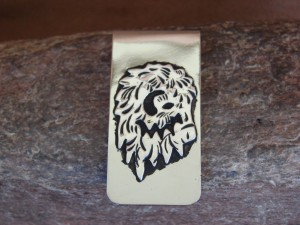 """Navajo Indian Jewelry Horse Money Clip! Sterling Silver Men""""s"""