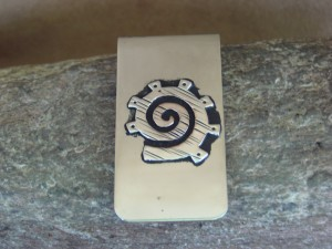 "Navajo Indian Jewelry Petroglyph Money Clip! Sterling Silver Men""s"