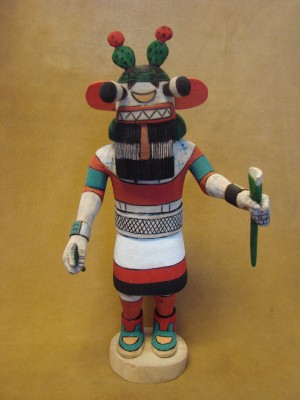 "Hopi Indian Hand Carved ""Cactus"" Kachina by Elmer Adams! Native American"