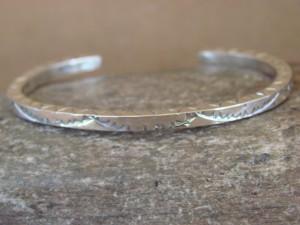 Navajo Native American Jewelry Handmade Silver Bracelet by Elaine Tahe!