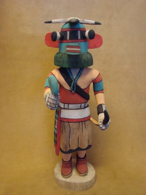 "Hopi Indian Hand Carved ""Halalo"" Kachina by Elmer Adams! Native American"