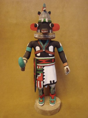 "Hopi Indian Hand Carved ""Poo-quam"" Kachina by D.  Adams! Native American"