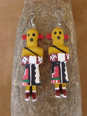 Navajo Indian Chili Kachina Earrings! by Loretta Multine!