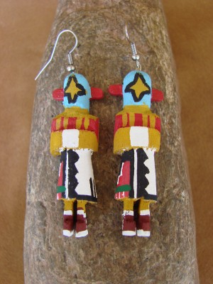 Navajo Indian Star Whisper Kachina Earrings! by Loretta Multine!