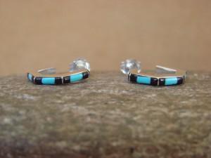 Native American Indian Jewelry Sterling Silver Hoop Earrings! By Chopite