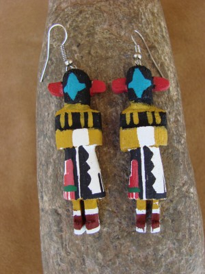 Navajo Indian Chasing Star Kachina Earrings! by Loretta Multine!