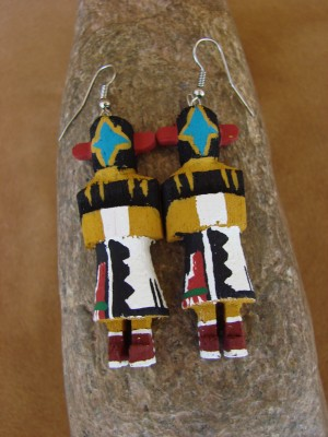 Navajo Indian Chasing Star Kachina Earrings! by Loretta Multine! 2
