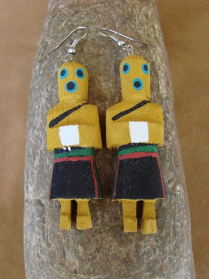 Navajo Indian Sand Bag Kachina Earrings! by Loretta Multine!