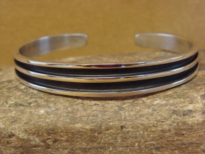 Native American Indian Jewelry Sterling Silver Bracelet by Tom Hawk!