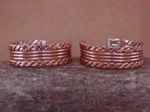 Navajo Indian Jewelry Handmade Copper Hoop Earrings! By Verna Tahe!