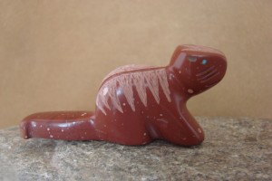 Zuni Indian Hand Carved Pipestone Otter Fetish by Brandon Phillips!