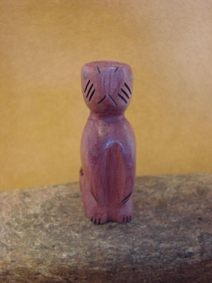 Zuni Indian Carved Cedar Beaver Fetish by Brandon Phillips! Native American