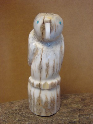 Zuni Indian Hand Carved Antler Eagle Fetish by Brandon Phillips!