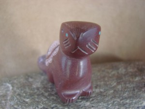 Zuni Indian Hand Carved Pipestone Beaver Fetish by Brandon Phillips!